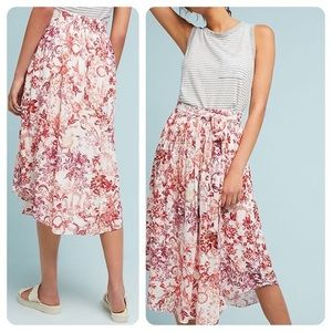 Maeve by Anthropologie Staycation Printed Skirt